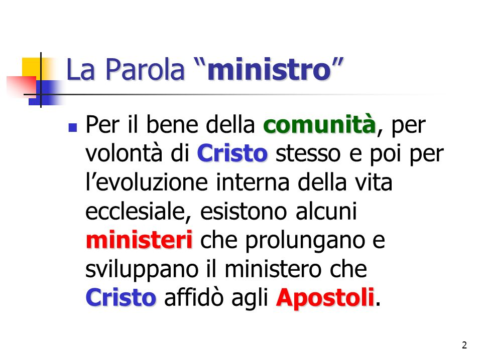 La Parola ministro