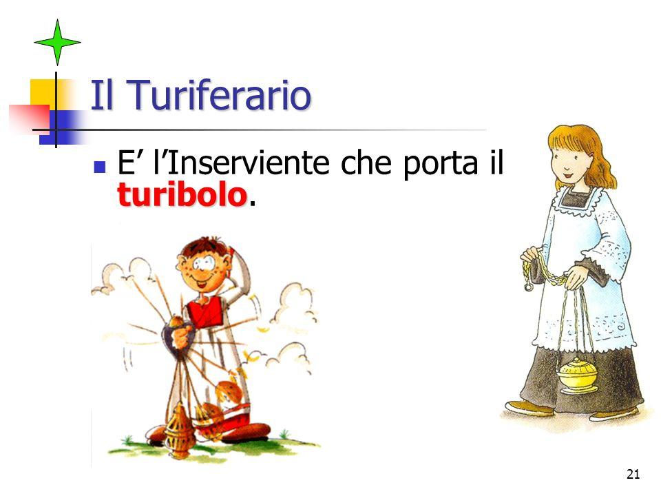 Il Turiferario E' l'Inserviente che porta il turibolo.