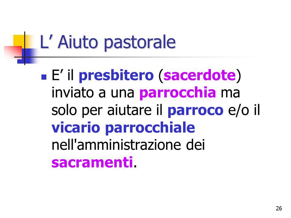 L' Aiuto pastorale