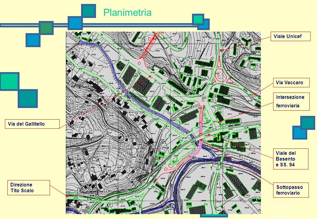 Planimetria Viale Unicef Via Vaccaro Intersezione ferroviaria
