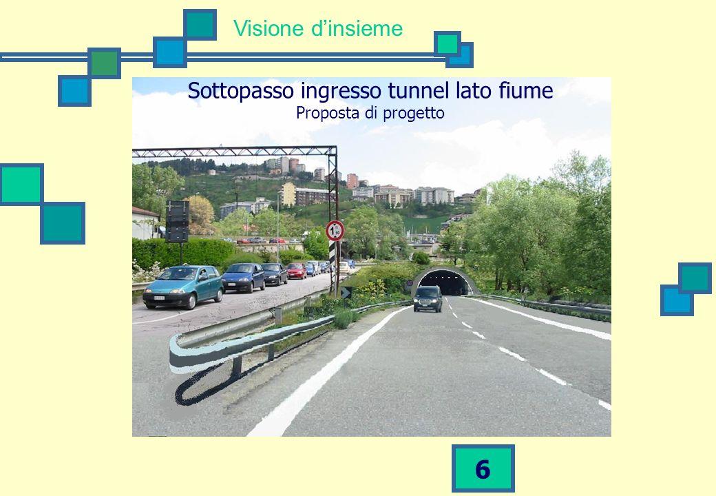 Sottopasso ingresso tunnel lato fiume