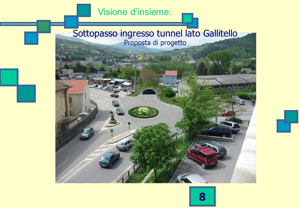 Sottopasso ingresso tunnel lato Gallitello