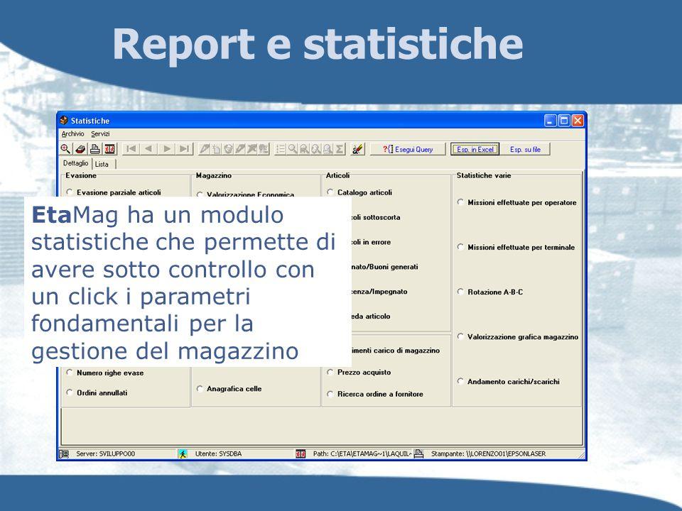 Report e statistiche