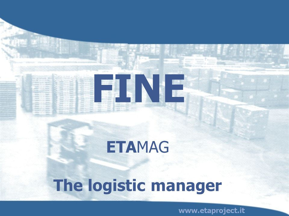 ETAMAG The logistic manager
