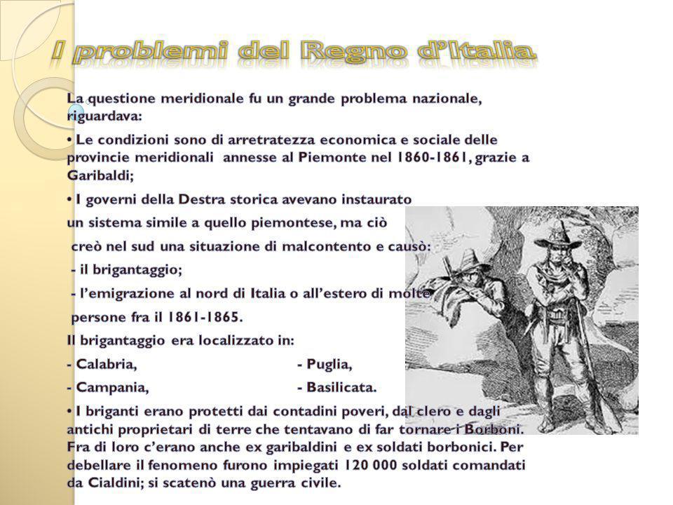 I problemi del Regno d'Italia