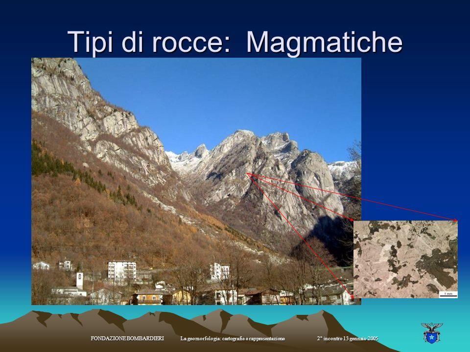 Tipi di rocce: Magmatiche