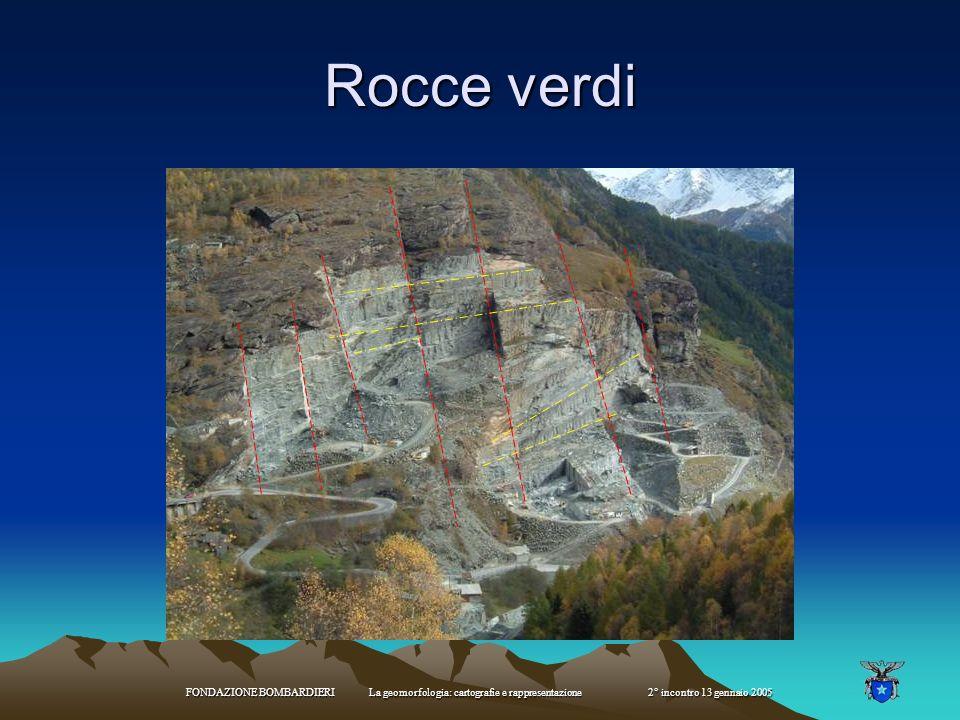 Rocce verdi FONDAZIONE BOMBARDIERI La geomorfologia: cartografie e rappresentazione 2° incontro 13 gennaio 2005.
