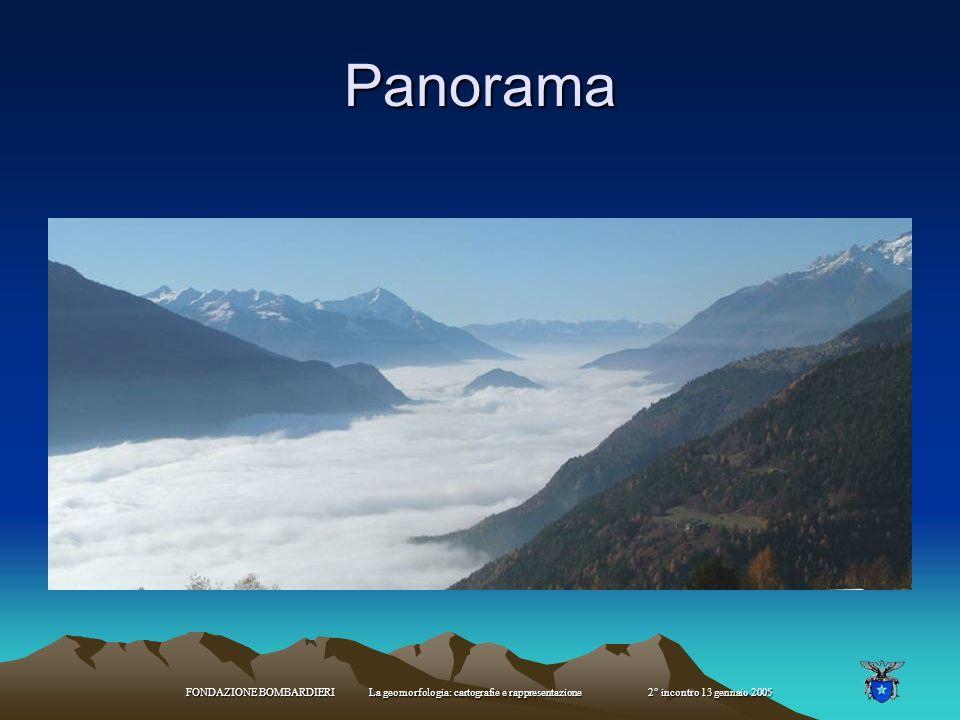 Panorama FONDAZIONE BOMBARDIERI La geomorfologia: cartografie e rappresentazione 2° incontro 13 gennaio 2005.
