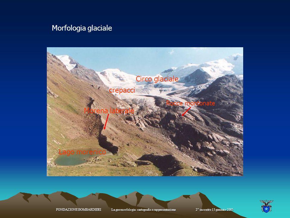 Morfologia glaciale Circo glaciale crepacci Morena laterale