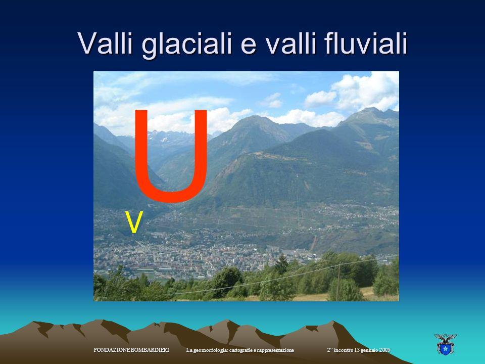 Valli glaciali e valli fluviali