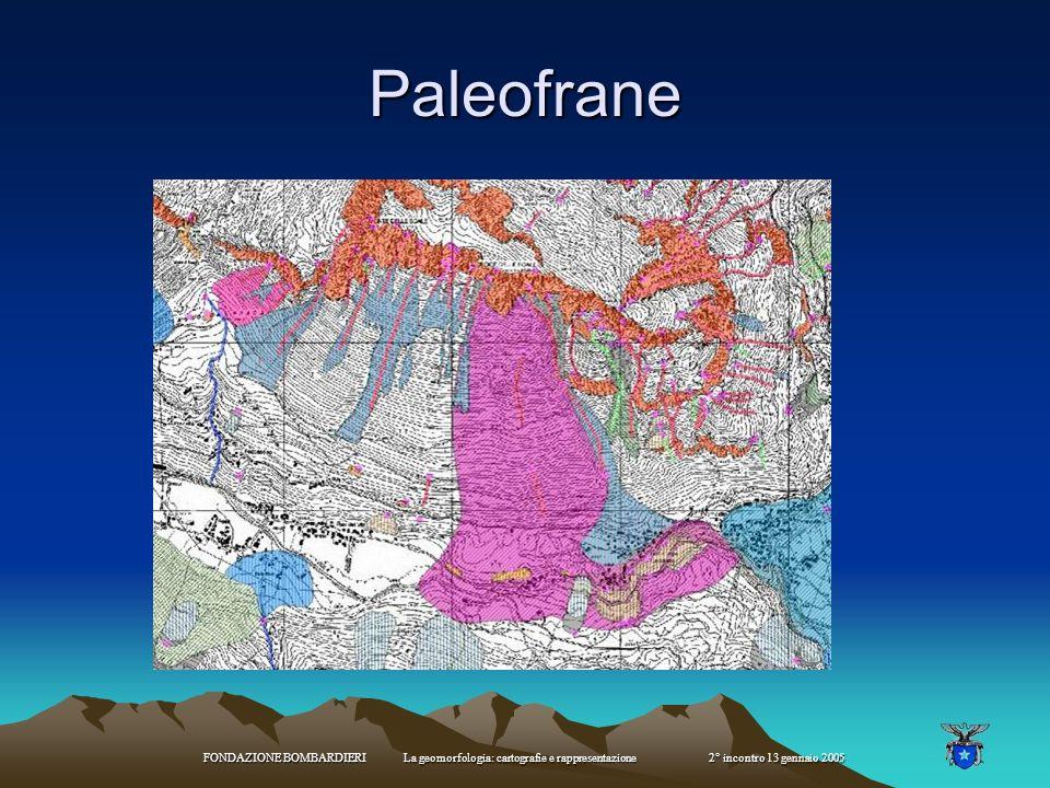 Paleofrane FONDAZIONE BOMBARDIERI La geomorfologia: cartografie e rappresentazione 2° incontro 13 gennaio 2005.