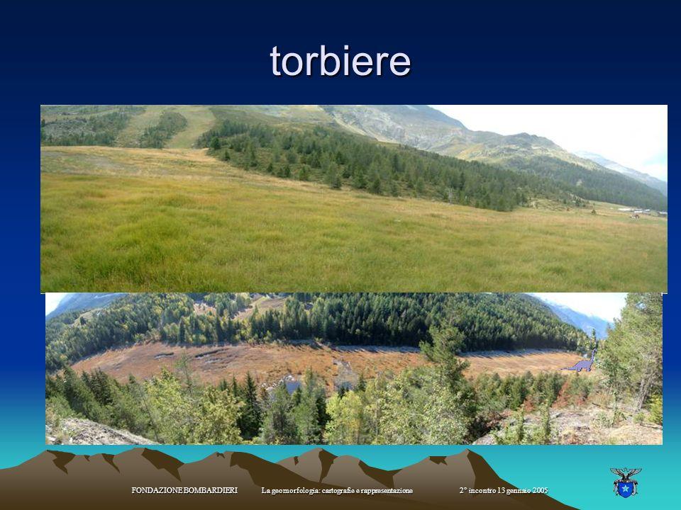 torbiere FONDAZIONE BOMBARDIERI La geomorfologia: cartografie e rappresentazione 2° incontro 13 gennaio 2005.