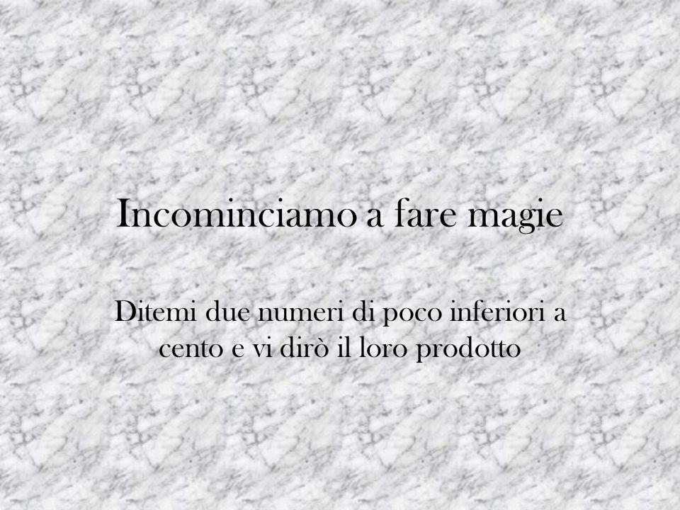 Incominciamo a fare magie