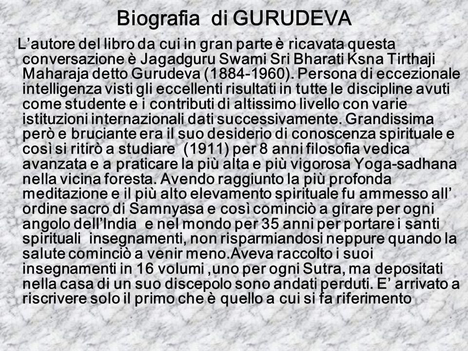 Biografia di GURUDEVA