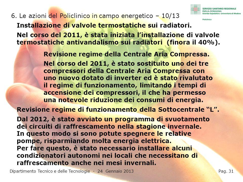Dipartimento Tecnico e delle Tecnologie - 24 Gennaio 2013 Pag. 31