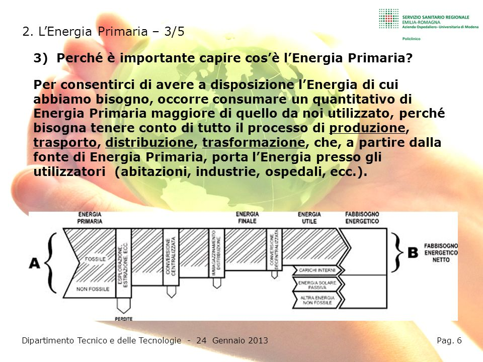 Dipartimento Tecnico e delle Tecnologie - 24 Gennaio 2013 Pag. 6
