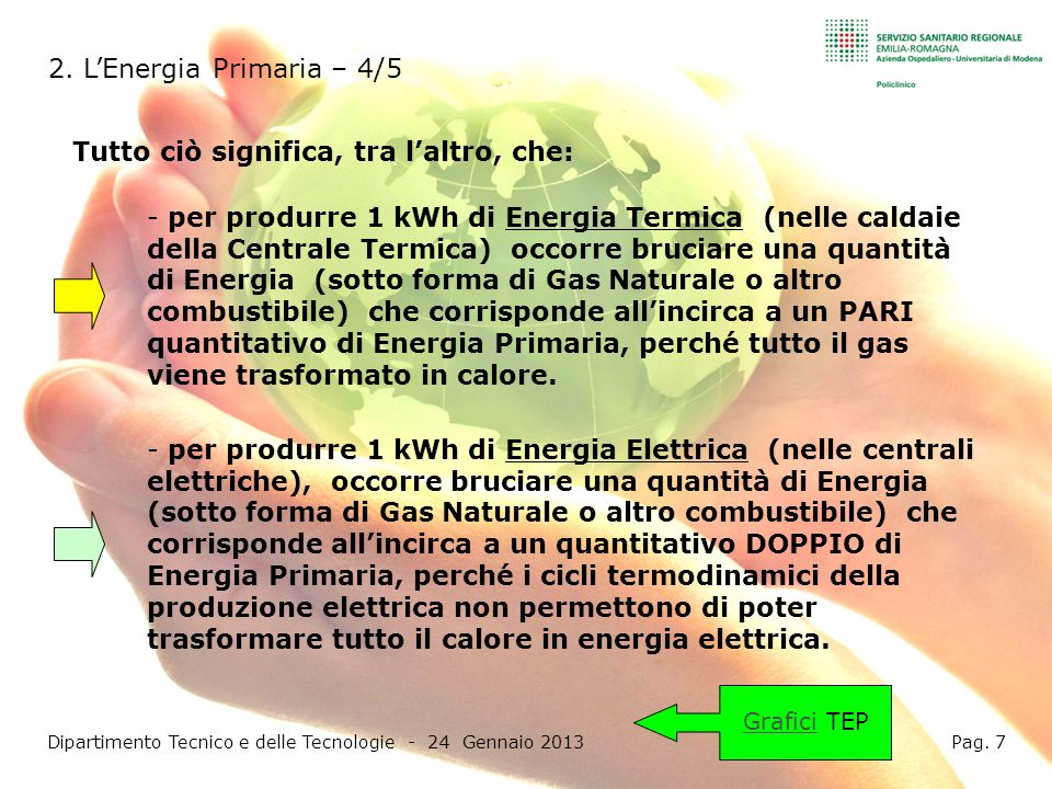 Dipartimento Tecnico e delle Tecnologie - 24 Gennaio 2013 Pag. 7