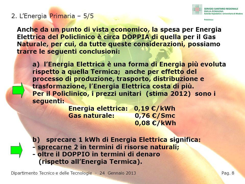 Dipartimento Tecnico e delle Tecnologie - 24 Gennaio 2013 Pag. 8