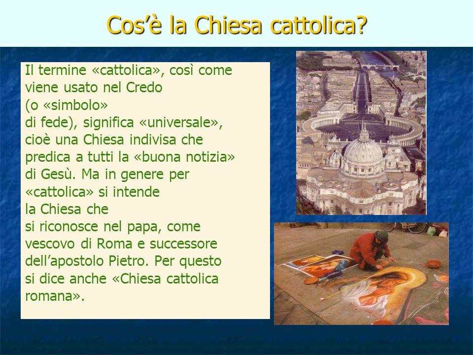 Cos'è la Chiesa cattolica