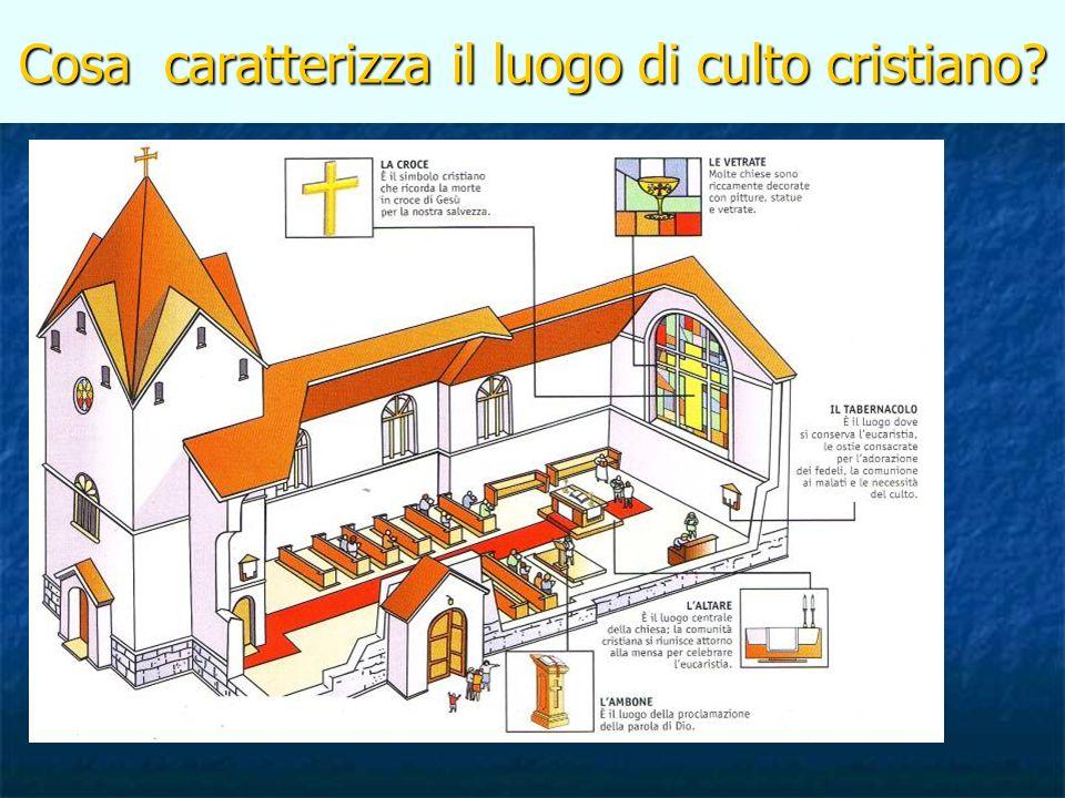 Cosa caratterizza il luogo di culto cristiano