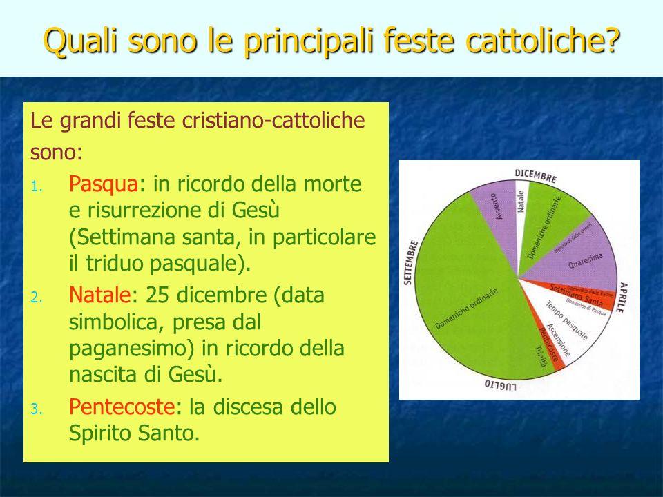 Quali sono le principali feste cattoliche
