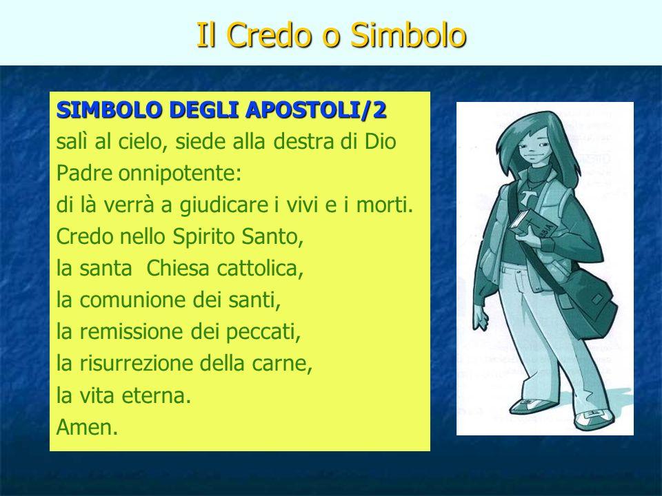 Il Credo o Simbolo SIMBOLO DEGLI APOSTOLI/2