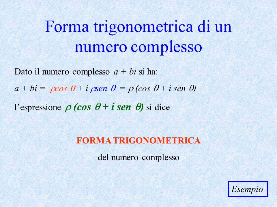 Forma trigonometrica di un numero complesso