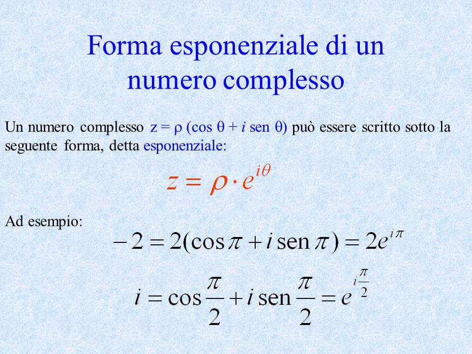 Forma esponenziale di un numero complesso