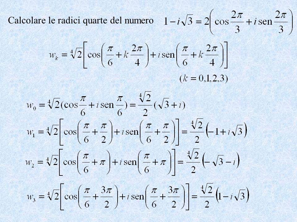 Calcolare le radici quarte del numero