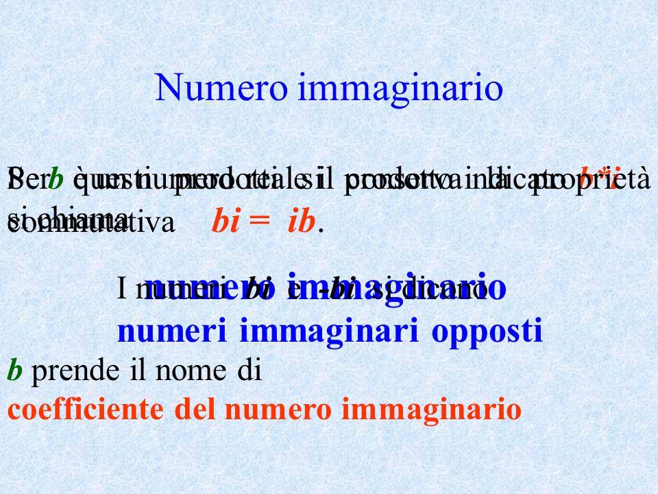 Numero immaginario numeri immaginari opposti