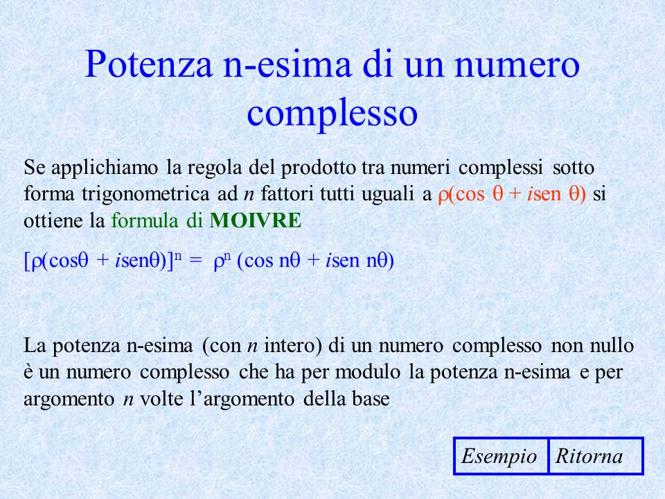 Potenza n-esima di un numero complesso