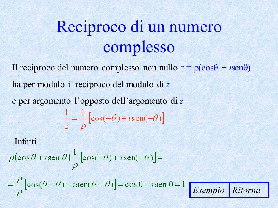 Reciproco di un numero complesso