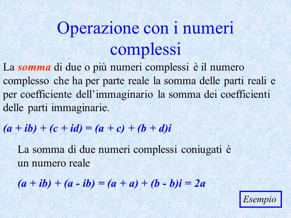 Operazione con i numeri complessi