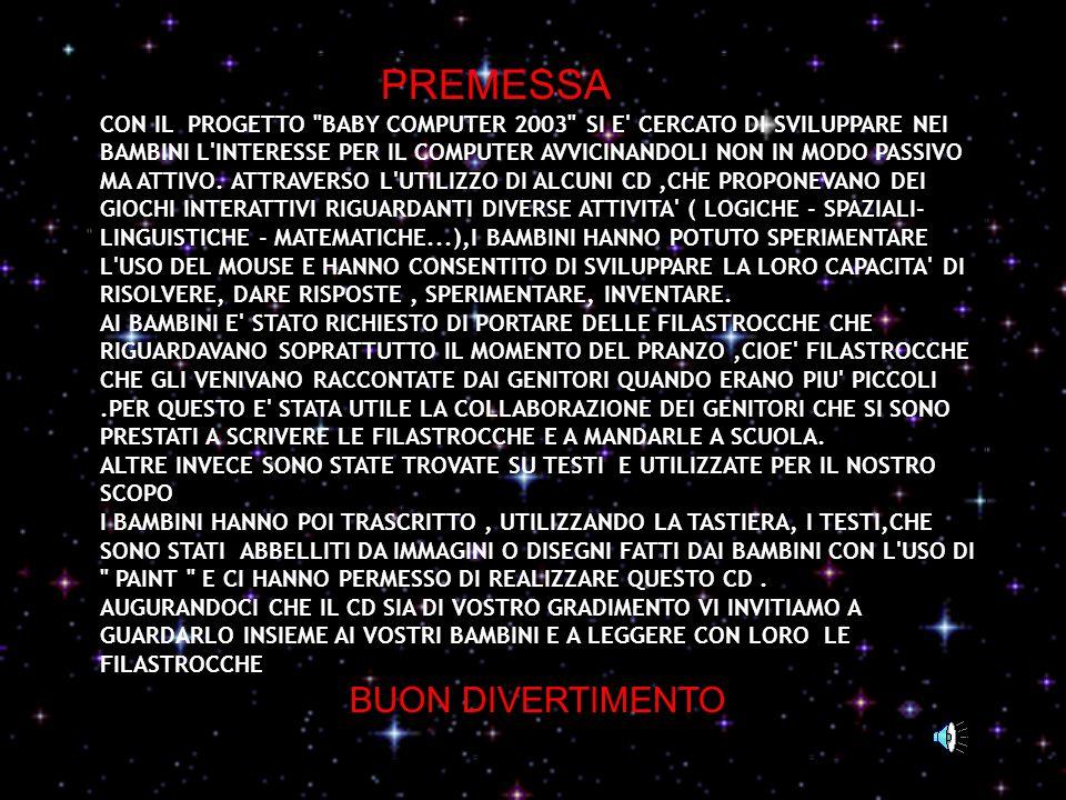 PREMESSA BUON DIVERTIMENTO