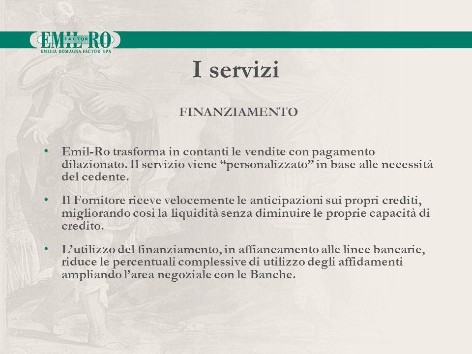 I servizi FINANZIAMENTO