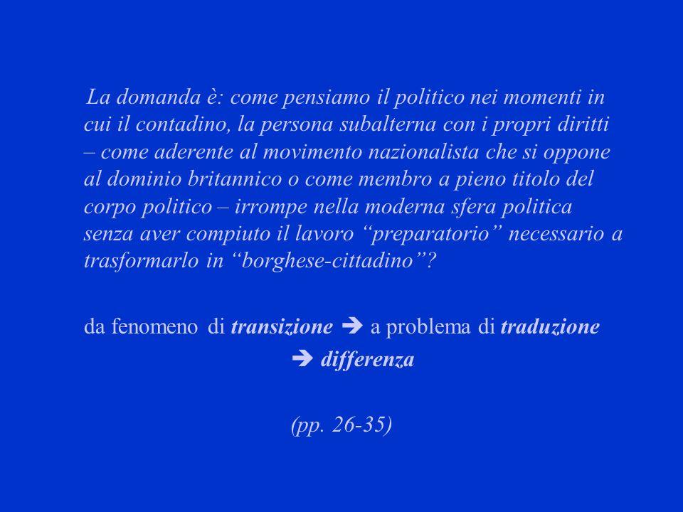 da fenomeno di transizione  a problema di traduzione