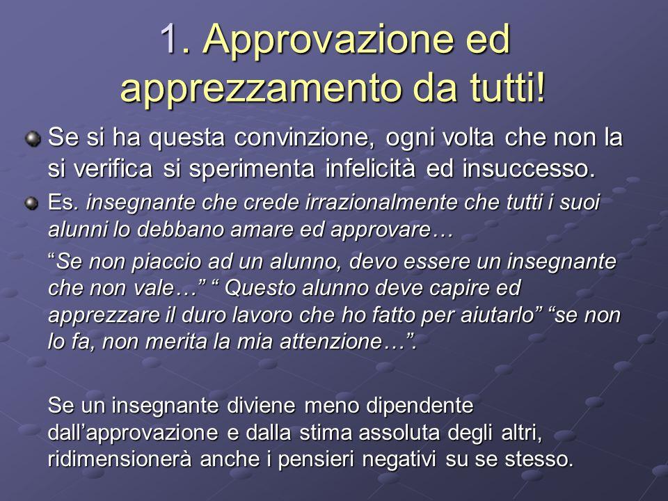 1. Approvazione ed apprezzamento da tutti!