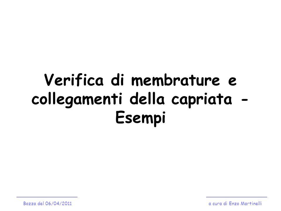Verifica di membrature e collegamenti della capriata - Esempi
