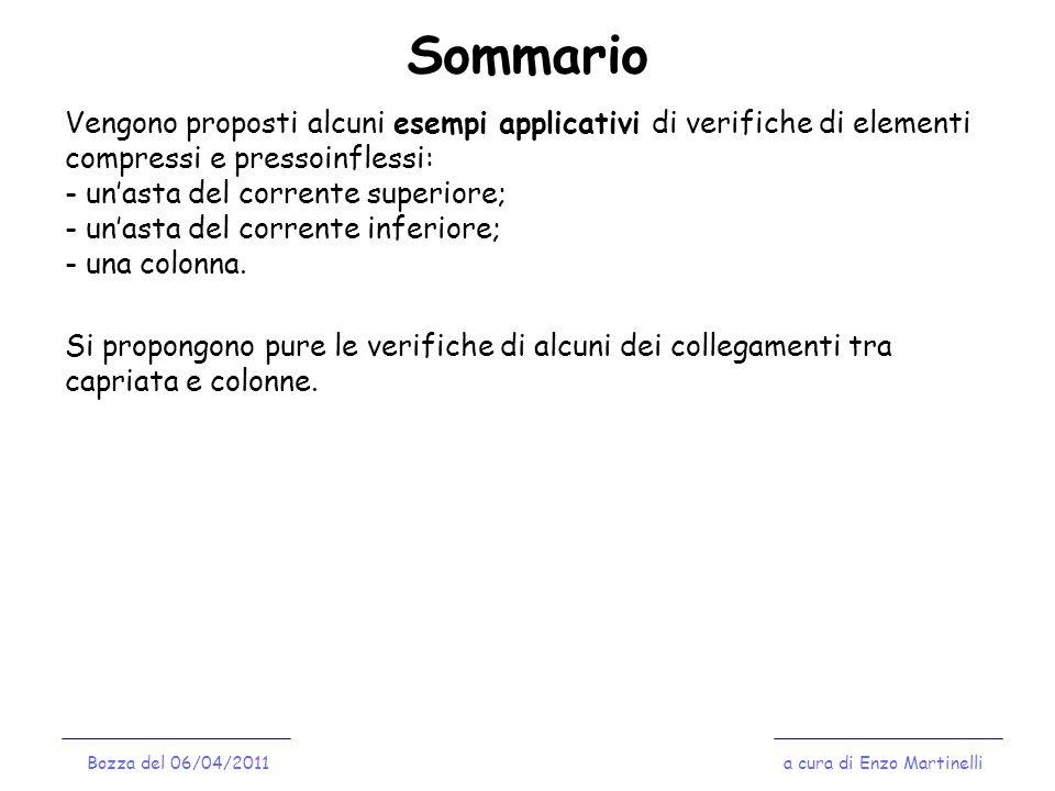 Sommario Vengono proposti alcuni esempi applicativi di verifiche di elementi compressi e pressoinflessi: