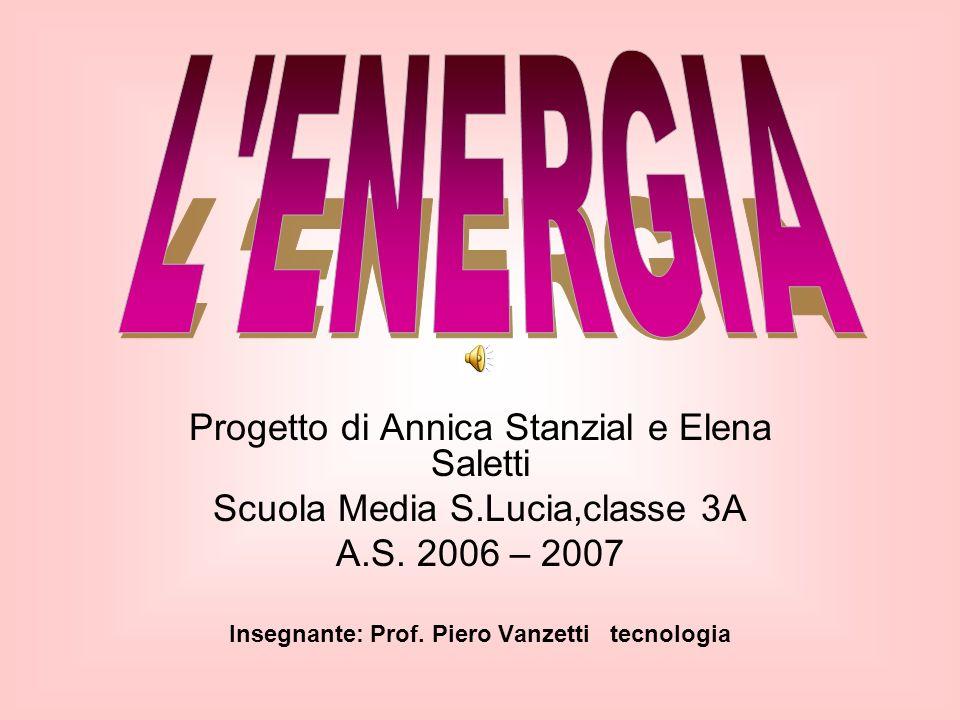 Insegnante: Prof. Piero Vanzetti tecnologia