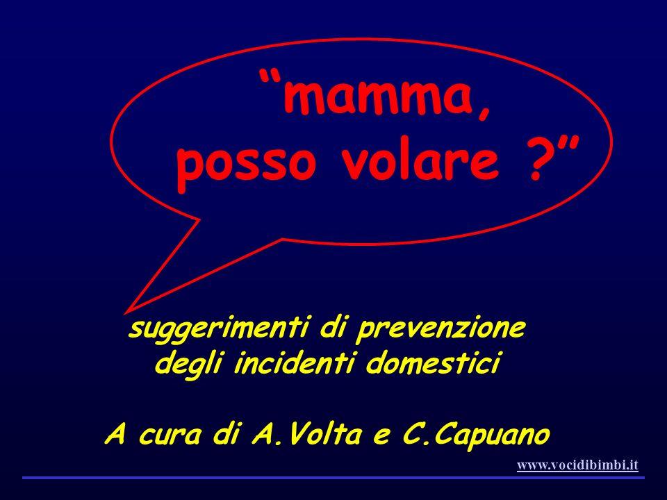 mamma, posso volare suggerimenti di prevenzione degli incidenti domestici. A cura di A.Volta e C.Capuano.
