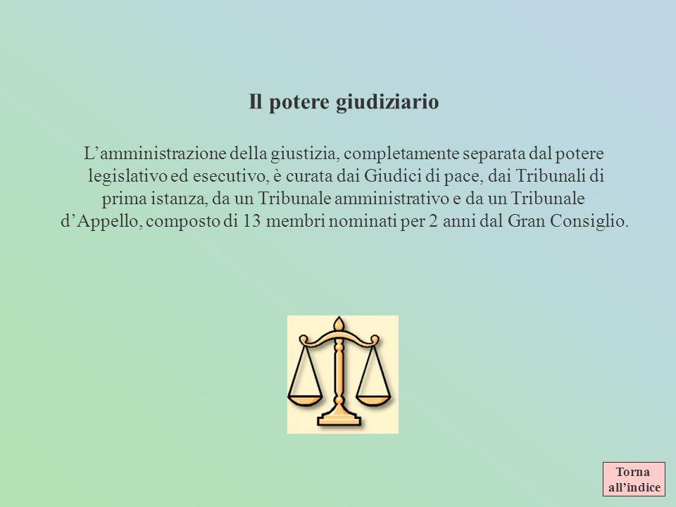 Il potere giudiziario L'amministrazione della giustizia, completamente separata dal potere.