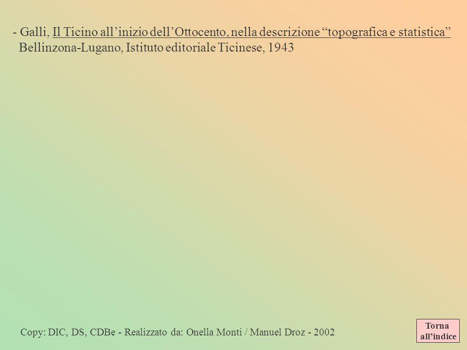 Bellinzona-Lugano, Istituto editoriale Ticinese, 1943