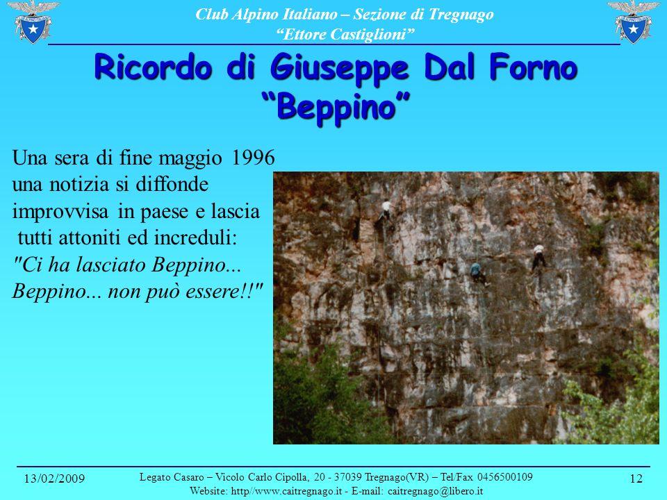 Ricordo di Giuseppe Dal Forno Beppino