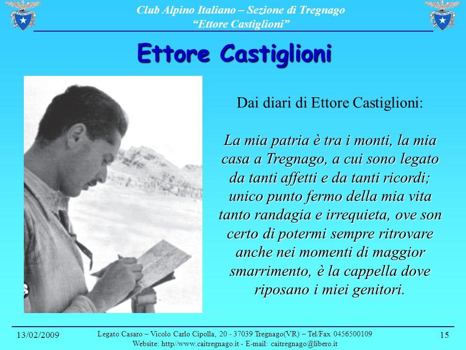 Ettore Castiglioni Dai diari di Ettore Castiglioni: