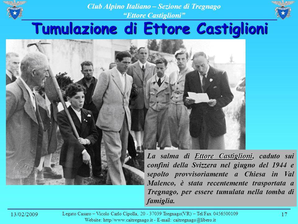 Tumulazione di Ettore Castiglioni