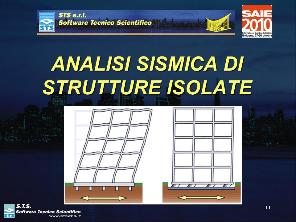 ANALISI SISMICA DI STRUTTURE ISOLATE
