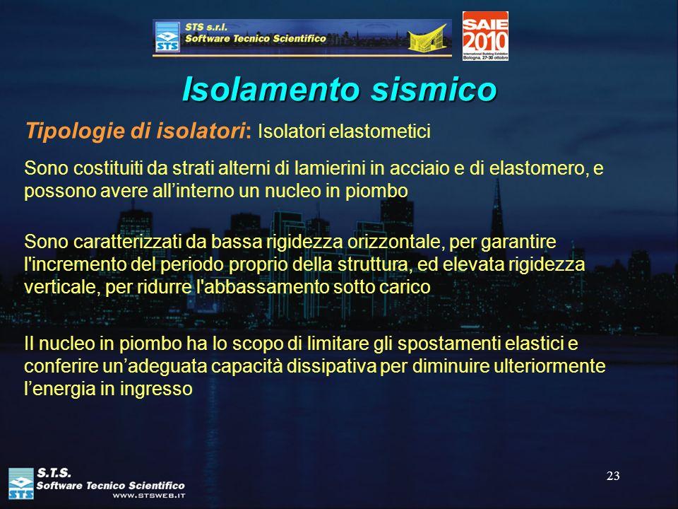 Isolamento sismico Tipologie di isolatori: Isolatori elastometici