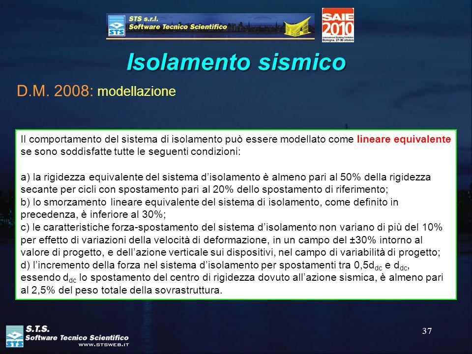 Isolamento sismico D.M. 2008: modellazione