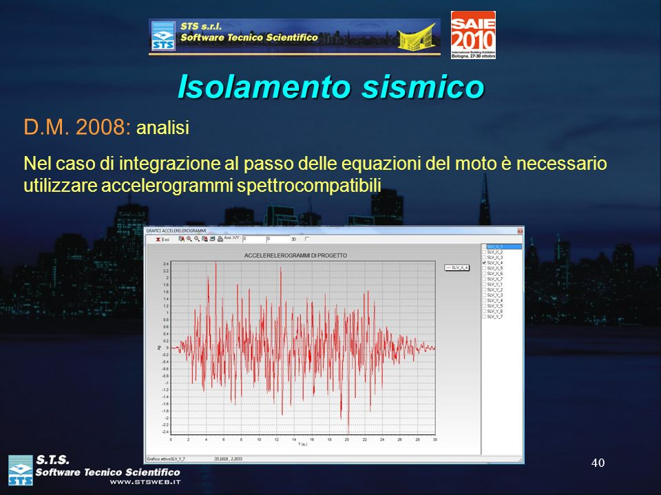 Isolamento sismico D.M. 2008: analisi